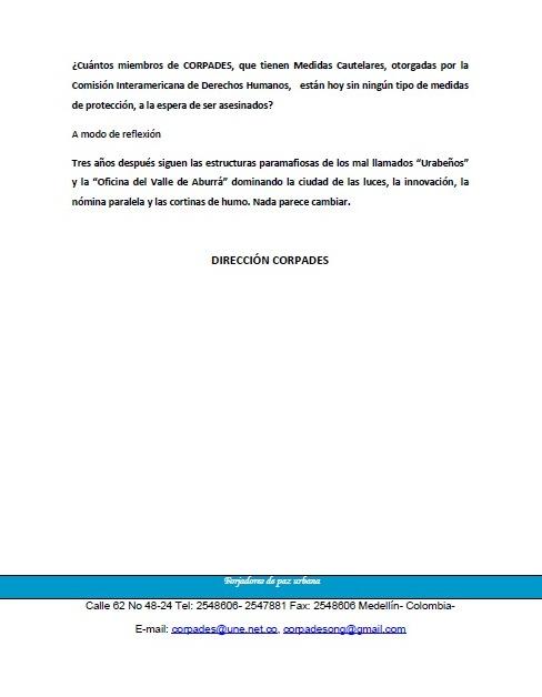 COMUNICADO PÚBLICO. ALEXANDER 2